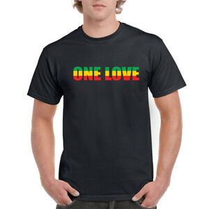 ONE LOVE T-SHIRT BOB MARLEY REGGAE MUSIIC MENS UNISEX TOP GIFT PRESENT