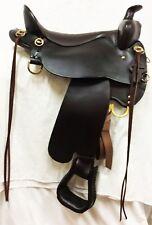 "Tucker 17.5"" Wide Bar High Plains Trail Saddle #T60-720-911-12,  Round Skirt"