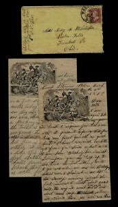 CIVIL WAR LETTER - 6th Ohio Cavalry - Leaving with Horses to Texas - CONTENT !