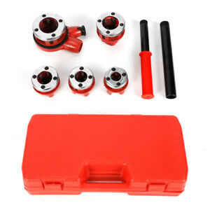 Pipe Threader With 5 pcs Dies Ratchet Handle Pluming Gas Construction Tools New