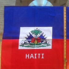 "1 Haiti  flag bandana, head wrap, armband 22"" X 22"" 100% cotton"