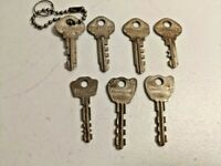 Lot of 7 Vintage Masterlock & Slaymaker Keys