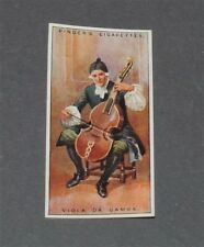 CIGARETTES CARD EDWARDS RINGER 1924 MUSICAL INSTRUMENTS N°23 VIOLA DA GAMBA
