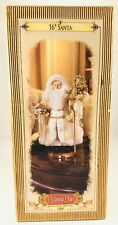 "1999 Grandeur Noel Collector's Edition 16"" Sheepskin Beard Fabric Santa w/ box"