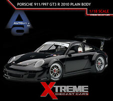 AUTOART 81071 1:18 PORSCHE 911/997 GT3 R 2010 PLAIN BODY VERSION BLK