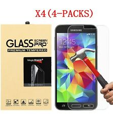 4-Pack Tempered Glass Screen Protector for Samsung Galaxy S3 S4 S5 Note 2 3 4 5