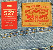 Levis 527 Jeans Mens New Slim Boot Cut Size 36 x 34 BLUE STONE Levi's NWT #024