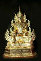 Antiker grosser Buddha Laquer Tempel Burma Skulptur Gold, Figur Höhe.140 cm