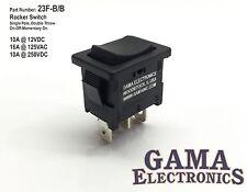 Mini 10 Amp 3 Position Rocker Switch On-Off-Momentary On SPDT - 23F-B/B