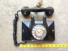 Vintage NORTHERN western ELECTRIC CO  Dial Wall Phone Black Bakelite CANADA Made