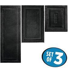 Soft Microfiber Polyester Rug Mats Set for Bathroom Vanity Spa Rectangular 3 Siz
