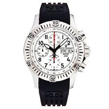 Revue Thommen Men's Airspeed Silver Dial Rubber Strap Automatic Watch 16071.6822