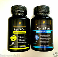 Alpha Cut Fuel Testo RIPPED SHRED MUSCLE Tongkat Ali L-Argenine MAX POWER STACK
