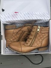"""NEW Womens ALDO """"umorewen"""" Soft Tan Leather boots Size 7"""