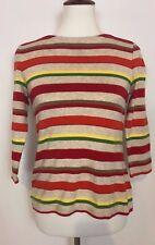 Talbots Multi-Colored ¾ Sleeve Cotton Shirt Womens Size Medium - Petite