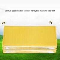 30pcs Imkerei Mittelwände Waben Bienen Wachs Wachsplatten für Imker Werkzeuge DE