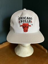 Vintage Chicago Bulls Snapback Hat The G Cap White Rare