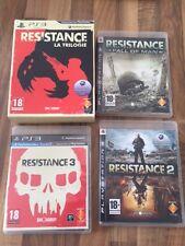 """PS3:    COFFRET RESISTANCE    """" LA TRILOGIE""""    PAL FR"""