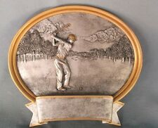 """6"""" size oval resin plate plaque GOLF award  trophy male 56621GS"""