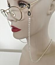 "27"" beaded sunglass/eyeglass holder - Silver Mine"