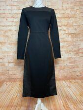 METALICUS Dress Size M / L Black Midi Stretch Long Sleeve LBD Work Party