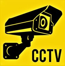 CCTV warning sign decal sticker