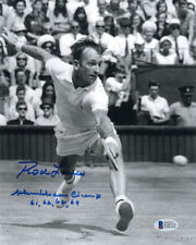 ROD LAVER SIGNED AUTOGRAPHED 8x10 PHOTO + WIMBLEDON WINNING YEARS BECKETT BAS
