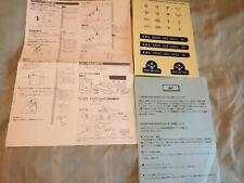 Sega Divers 2000 CX-1 Dreamcast Unused Sticker Sheet, Camera Sheet & Blue Sheet