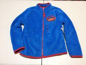 NWT Disney Store Boy Fleece Jacket Cars 3 Lightning McQueen 7/8