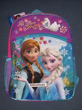 Disney Frozen Girl's 16 inch Backpack - Blue Snowflake New