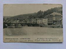 Bouillon Belgium Vintage B&W Postcard 1906 Le Pont de Liege