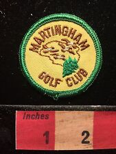 Vtg MARTINGHAM GOLF CLUB Golfing Patch Emblem St. Michaels Maryland 68P4