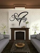 """""""Family With Heart"""" Size 29"""" x 22"""" - Vinyl Wall Art For The Home"""