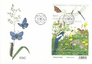 Hedgehog Frog Insects Butterfly Finland Sheet Mint FDC 2003
