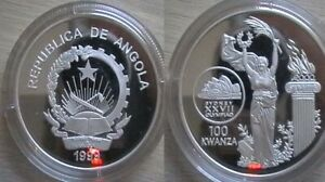 ANGOLA for Sydney 2000 Olympics. Silver proof coin.