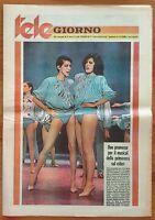 RIVISTA MAGAZINE RARE VINTAGE TELE GIORNO 1980 LICINIA LENTINI DE FRANCESCO LAUR