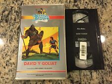LA AVENTURA MAS GRANDE DAVID Y GOLIAT SPANISH VHS CHRISTIAN BIBLE CARTOON HTF!