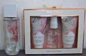 TED BAKER PRETTY PEARL BODY SPRAY 150ML + PRETTY PEARL 3 ITEM GIFT SET - NEW
