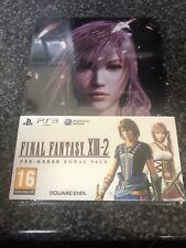 Final Fantasy XIII-2 Ps3 Bonus Pack Steelbook Edition Brand New Sealed Rare Dlc