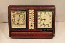 Vintage Swiss Made Le-Coultre  Alarm Clock Barometer Thermometer Weather Station