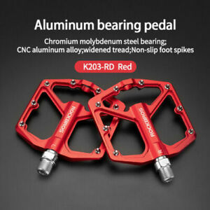 ROCKBROS MTB Bike Pedals 9/16 Lightweight DU Sealed Bearing Bicycle Flat Pedals