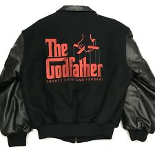 Vintage Paramount Pictures The Godfather 25th Anniversary Leather Jacket Mafia