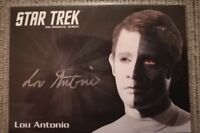 STAR TREK TOS ORIGINAL SERIES 50TH ANNIVERSARY LOU ANTONIO LOKAI AUTOGRAPH CARD