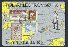 Norway Norwegian Polarfilex Tromso 1977 - SS Exhibition Sheet, MNH Fresh*