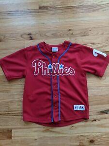 Philies Majestic Jersey Sz 8-10 Mlb Baseball