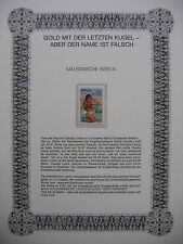 Irrtümer auf Briefmarken / Maledivische Inseln 1985 : Gold Medalist Claudia Loch