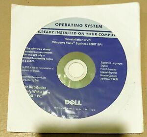 DELL Microsoft Windows Vista Business 32Bit SP1 Reinstallation Disc SEALED W KEY