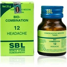 SBL Homeopathic Bio Combination 12( BC 12) Tablets for HEADACHE 25gm + Free Ship