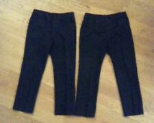 Boys School Trousers 4 5 Years F&F Slim Leg X2 Pairs pull on adjustable waist