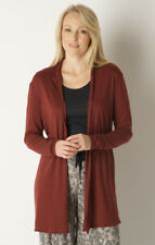Hanro Russet Red Cotton Cashmere Cardigan UK 14 - New wth Tags, 60% OFF